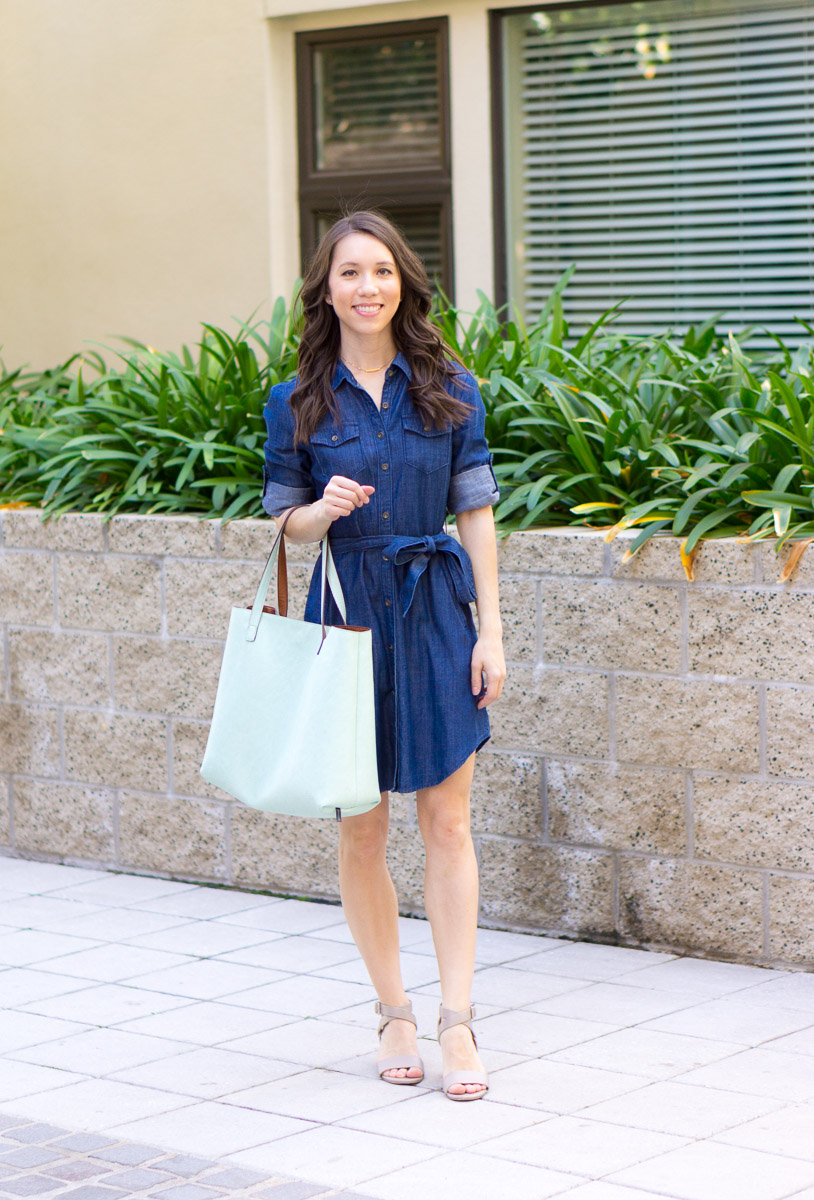 543ad9cd706 How to Style a Chambray Dress from Casual to Work Settings