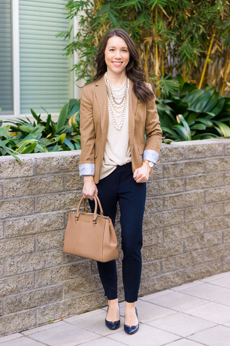 How to Wear Navy & Camel Together | Neutral Tones & Layering | Petite  fashion and