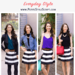 How to Style a Striped Skirt 4 Ways // Work, Weekend, Date, Casual