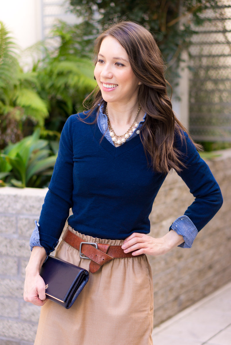 How To Wear Navy Camel Together Neutral Tones Layering