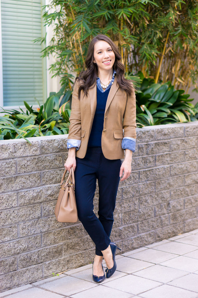 How To Wear Navy Amp Camel Together Neutral Tones Amp Layering