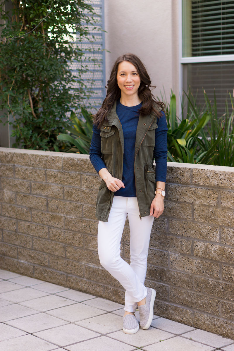 Gray Paige Denim With Brown Shoes