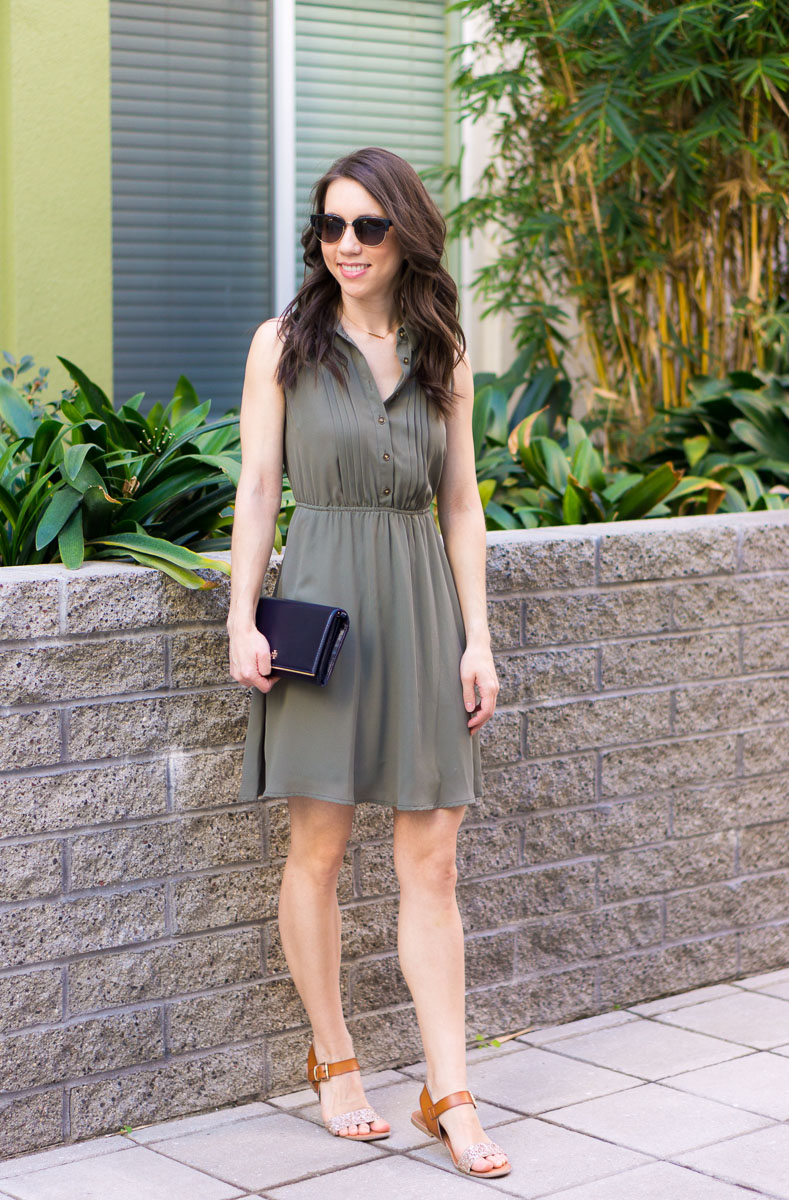 How To Style An Olive Green Dress From Work To Weekend