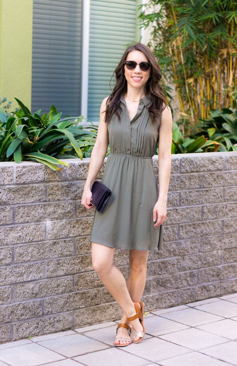 How To Style An Olive Green Dress From Work Weekend Basic Cardy Cardigan Nic Zoe 4 Way Review