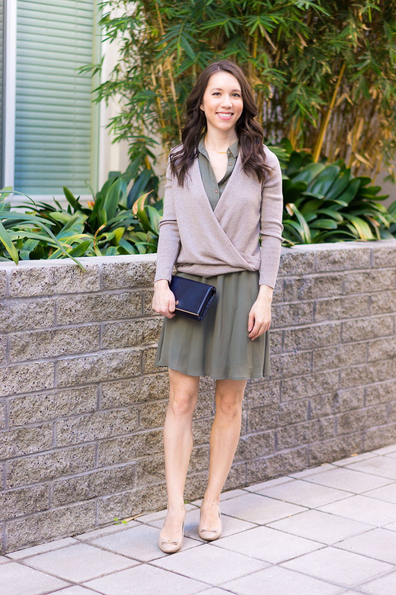 8ac7547dce5b How to Style an Olive-Green Dress from Work to Weekend + 9 Affordable  Dresses
