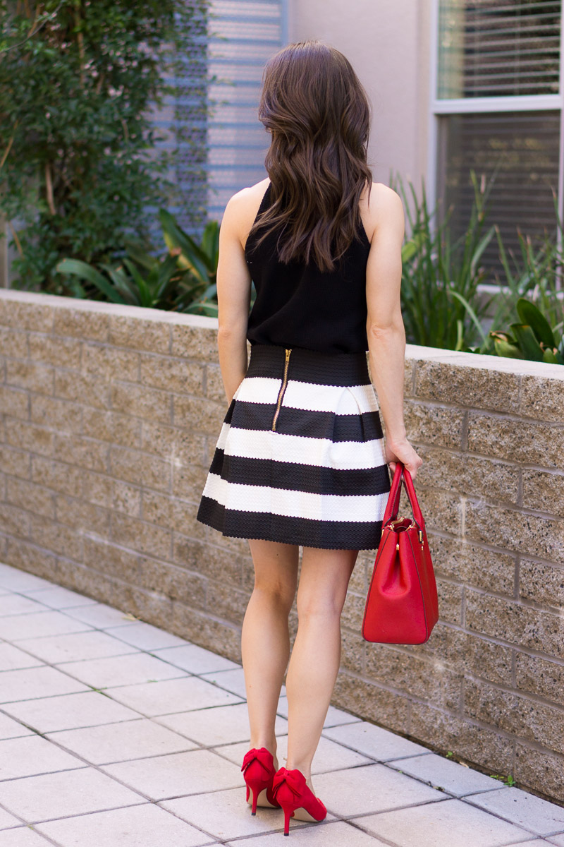 How To Style A Striped Skirt 4 Ways Work Weekend Date