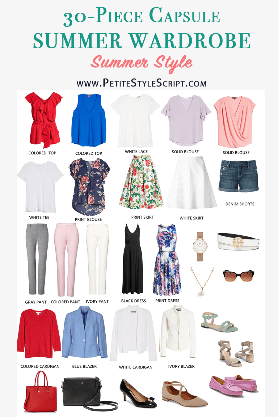 Summer Capsule Wardrobe Challenge | Project 333 | minimalist wardrobe | petite fashion and style blog | KonMari philosophy method | less is more | summer top outfits | spark joy closet