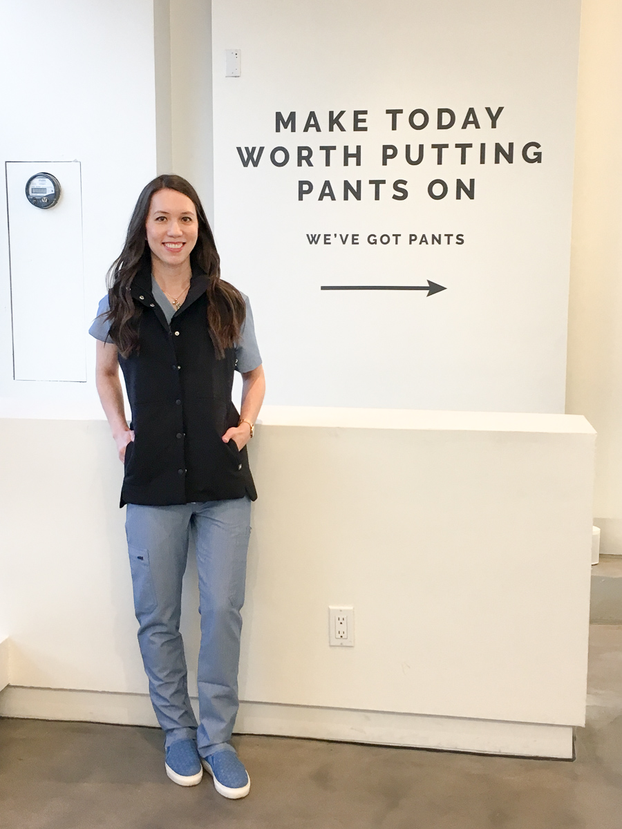 7cf70d3980f FIGS Scrubs Pop-Up Store Review Los Angeles & New Petite-Friendly Fits for